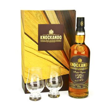 Whisky Knockando 21 ans Master Reserve Coffret 2 verres