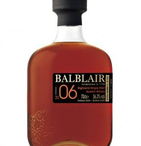 Whisky des Highlands BALBLAIR 14 ans 2006 Single Cask Sherry 56,3%