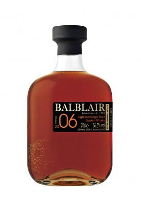 Whisky des Highlands BALBLAIR 14 ans 2006 Single Cask Sherry 56,3%