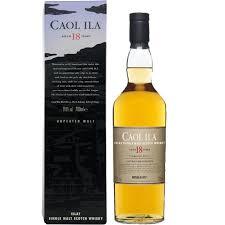 Whisky Caol ila 18 ans unpeated