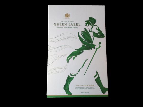 Whisky Johnnie Walker Green Label - Coffret 2 verres 43%