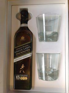 Whisky Johnnie Walker Green Label 15 ans - Coffret 2 verres 43%