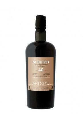 Whisky du Speyside Glenlivet 1974 The Artist 5th 40 ans 46,8%