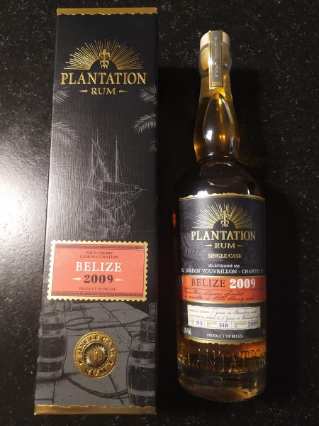embouteillage exclusif Jardin Vouvrillon Plantation Belize 2009 Single Cask 44,1%