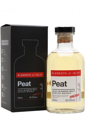 Whisky d'islay elements of islay peat pur islay 45%