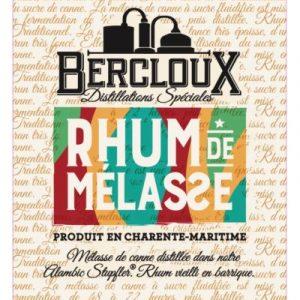 Distillerie de Charente Maritime Bercloux Rhum de Mélasse 45%