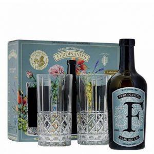 Produit en Allemagne Gin Ferdinand's Saar Dry Gin 50cl coffret 2 verres