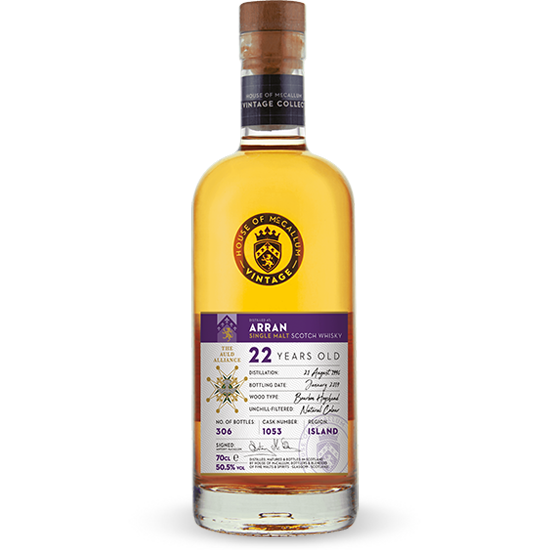 whisky ecossais Arran 22 ans 1996 - House Of MCCallum 50,5%