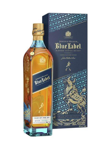 whisky d'Ecosse johnny walker bleu label nouvel an chinois