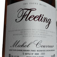 Whisky Michel Couvreur Fleeting 10 ans