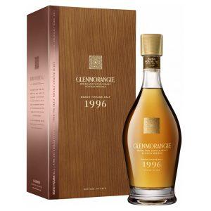 Whisky des Highlands Glenmorangie Grand Vintage 1996 coffret bois 23 ans