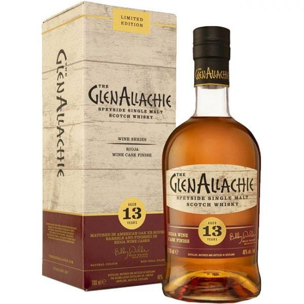 whisky du Speyside GlenAllachie 13 ans Rioja - Wine Cask Series 48%