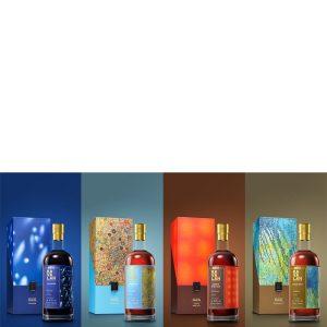 whisky de Taïwan Kavalan Artist Series Paul Chiang Set de 4 bouteilles 56,7%